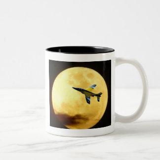 moon flight Two-Tone coffee mug