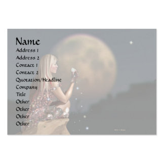 Moon Flower 2 Large Business Card