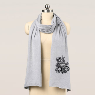 Moon flower - original art - stylish - scarf