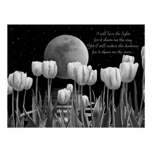 Moon Flowers Posters
