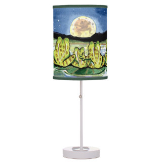 """""""Moon Frogs"""" Lamp, Frog Family Watching the Moon Table Lamp"""