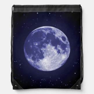 Moon from Earth Drawstring Backpack