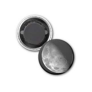 Moon from Galileo Planetary Space Mission 1 Inch Round Magnet