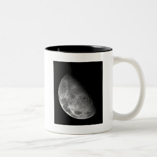 Moon from Galileo Planetary Space Mission Two-Tone Coffee Mug
