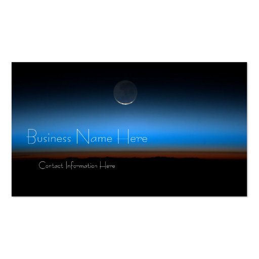 Moon From Space Business Cards