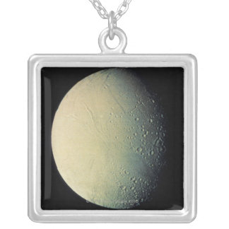 Moon from Space Square Pendant Necklace