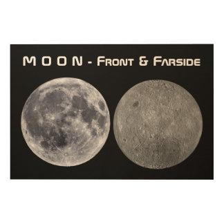 Moon - Front & Farside Wood Wall Decor