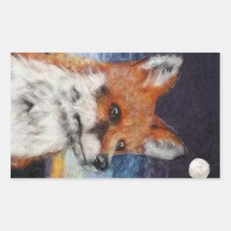 Moon Gazing Fox Sticker
