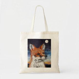 Moon Gazing Fox Tote Shopping Bag