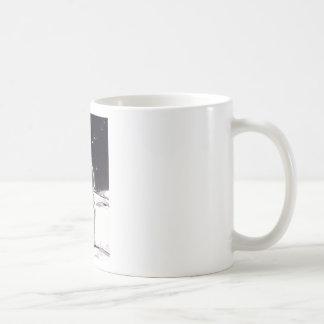 Moon Gazing Classic White Coffee Mug