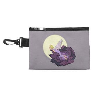 Moon Gazing Purple Flower Fairy Evening Sky Accessory Bag