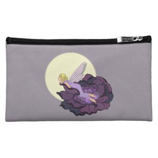 Moon Gazing Purple Flower Fairy Evening Sky Cosmetic Bag