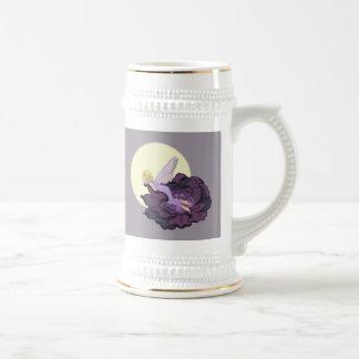 Moon Gazing Purple Flower Fairy Evening Sky Beer Stein