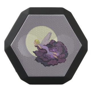 Moon Gazing Purple Flower Fairy Evening Sky Black Bluetooth Speaker
