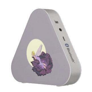 Moon Gazing Purple Flower Fairy Evening Sky Bluetooth Speaker