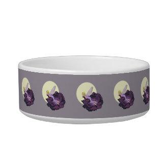 Moon Gazing Purple Flower Fairy Evening Sky Bowl