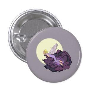 Moon Gazing Purple Flower Fairy Evening Sky 1 Inch Round Button