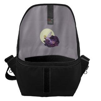 Moon Gazing Purple Flower Fairy Evening Sky Courier Bag