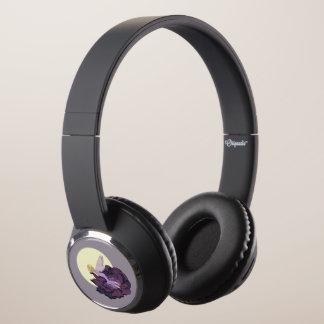 Moon Gazing Purple Flower Fairy Evening Sky Headphones