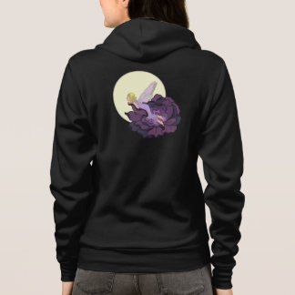 Moon Gazing Purple Flower Fairy Evening Sky Hoodie