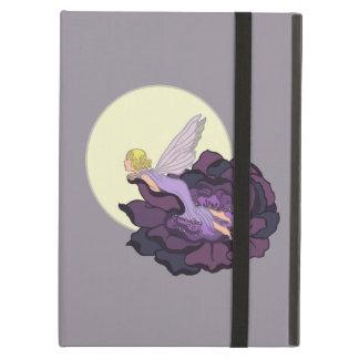 Moon Gazing Purple Flower Fairy Evening Sky iPad Air Cover