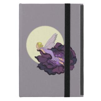 Moon Gazing Purple Flower Fairy Evening Sky iPad Mini Cover