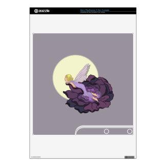 Moon Gazing Purple Flower Fairy Evening Sky PS3 Slim Console Skin