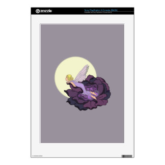 Moon Gazing Purple Flower Fairy Evening Sky Skin For The PS3