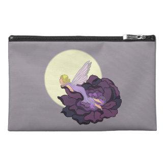 Moon Gazing Purple Flower Fairy Evening Sky Travel Accessory Bag