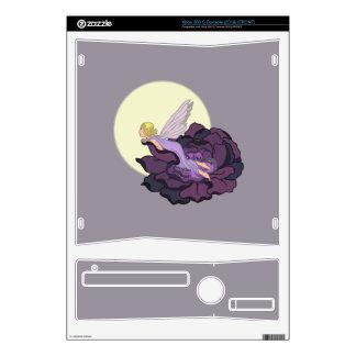 Moon Gazing Purple Flower Fairy Evening Sky Xbox 360 S Console Skins