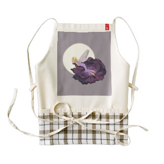 Moon Gazing Purple Flower Fairy Evening Sky Zazzle HEART Apron