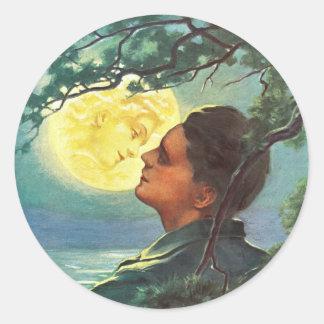 Moon Girl 1908 Classic Round Sticker