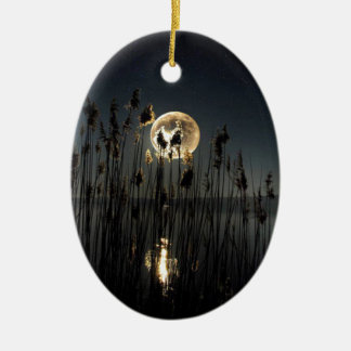 Moon Glow Ceramic Ornament