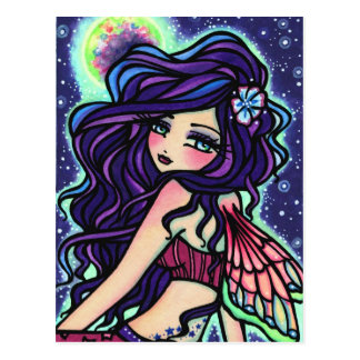 Moon Glow Fairy Fantasy Art Postcard Hannah Lynn