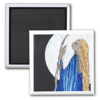 Moon Goddess 2 Inch Square Magnet