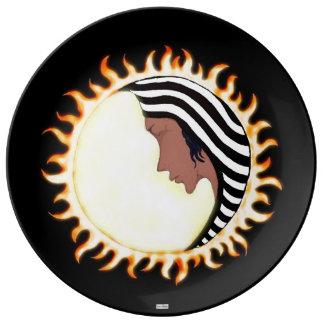 Moon Goddess 2 Porcelain Plate