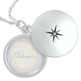 Moon Goddess Artemis Moonbow Locket Necklace
