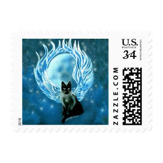 Moon Goddess Fairy Cat Stamp