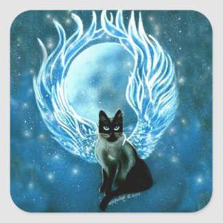 Moon Goddess Fairy Cat Sticker
