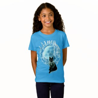 Moon Goddess Fairy Cat T-shirt