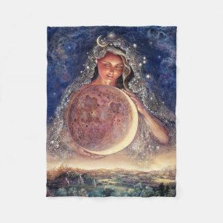 Moon Goddess Fleece Throw