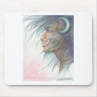 moon goddess mouse pad