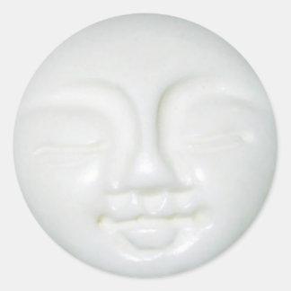 Moon Goddess Porcelain Classic Round Sticker