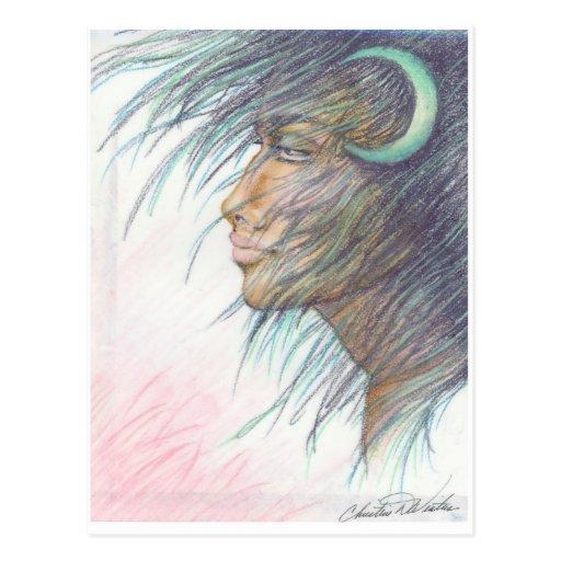 moon goddess postcard