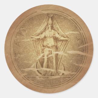 Moon Goddess Preservation Magic Charms Classic Round Sticker