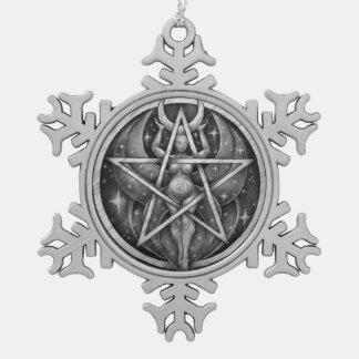 "Moon Goddess ""Silver"" Snowflake Ornament"
