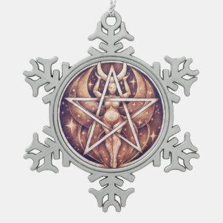 Moon Goddess Snowflake Ornament
