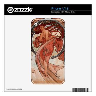 Moon Goddess Vintage Art Decal For The iPhone 4S