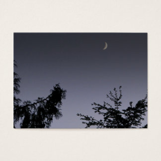 Moon Greeting Business Card