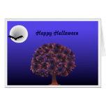 Moon - Happy Halloween Greeting Card